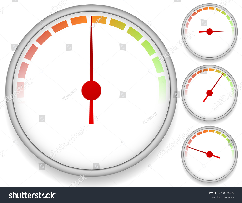 Multimeter Dial Symbols : Dial meter templates fading units set stock vector
