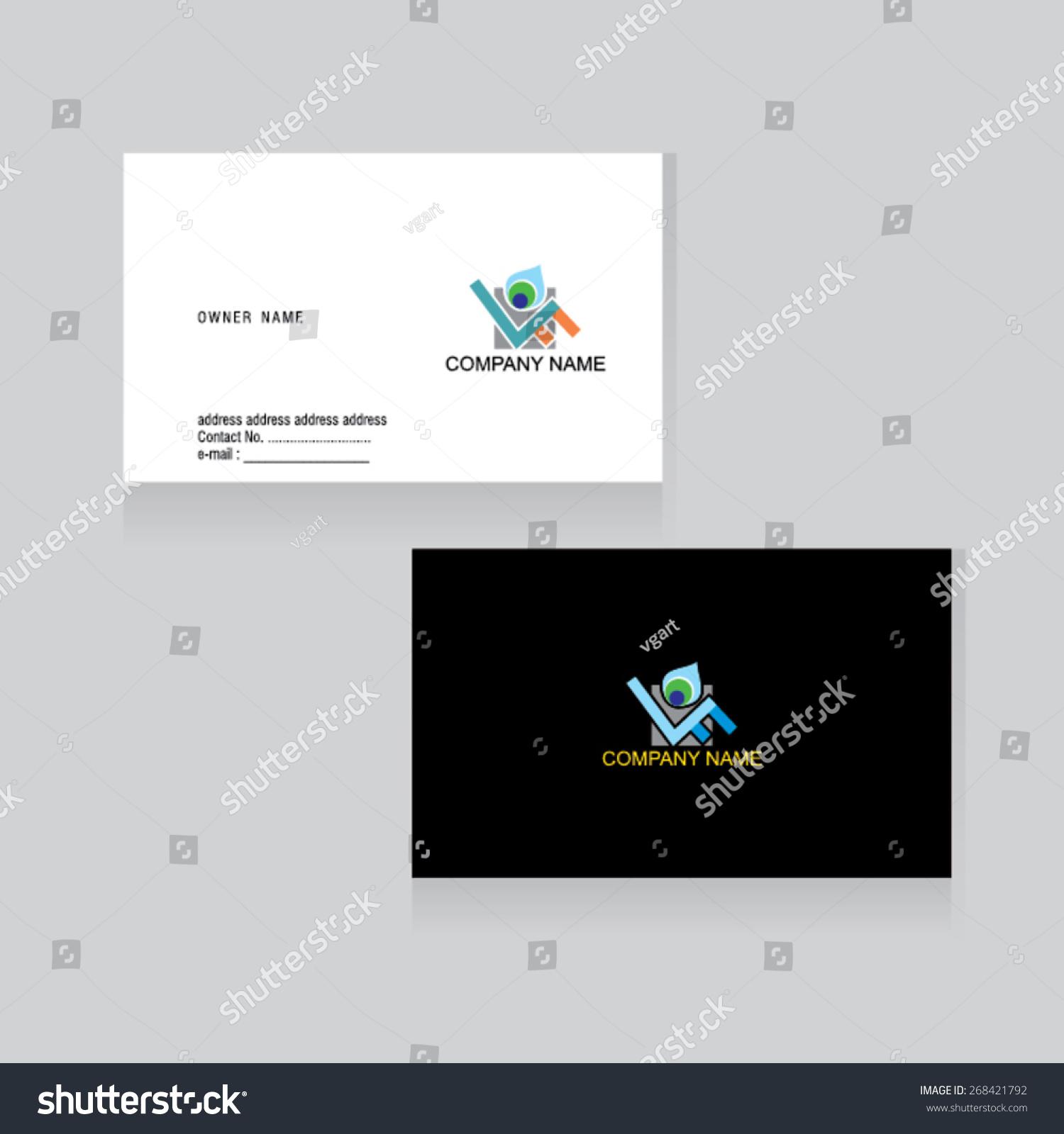 Business Card Idea Vector Illustration Stock Vector (Royalty Free