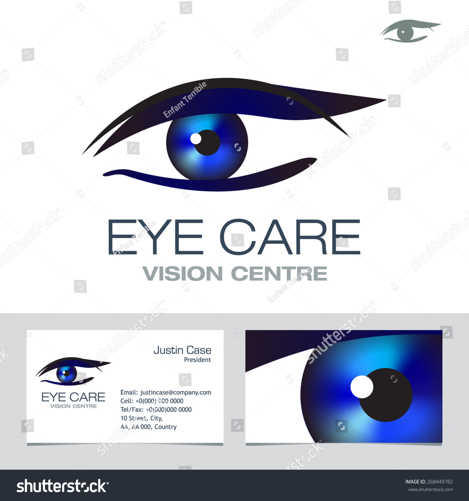 Eye Vision Sign Business Card Vector Stock Photo (Photo, Vector ...