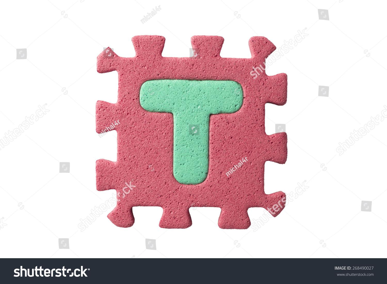 Alphabet Puzzle Pieces On White Background Stock Photo (Edit Now ...