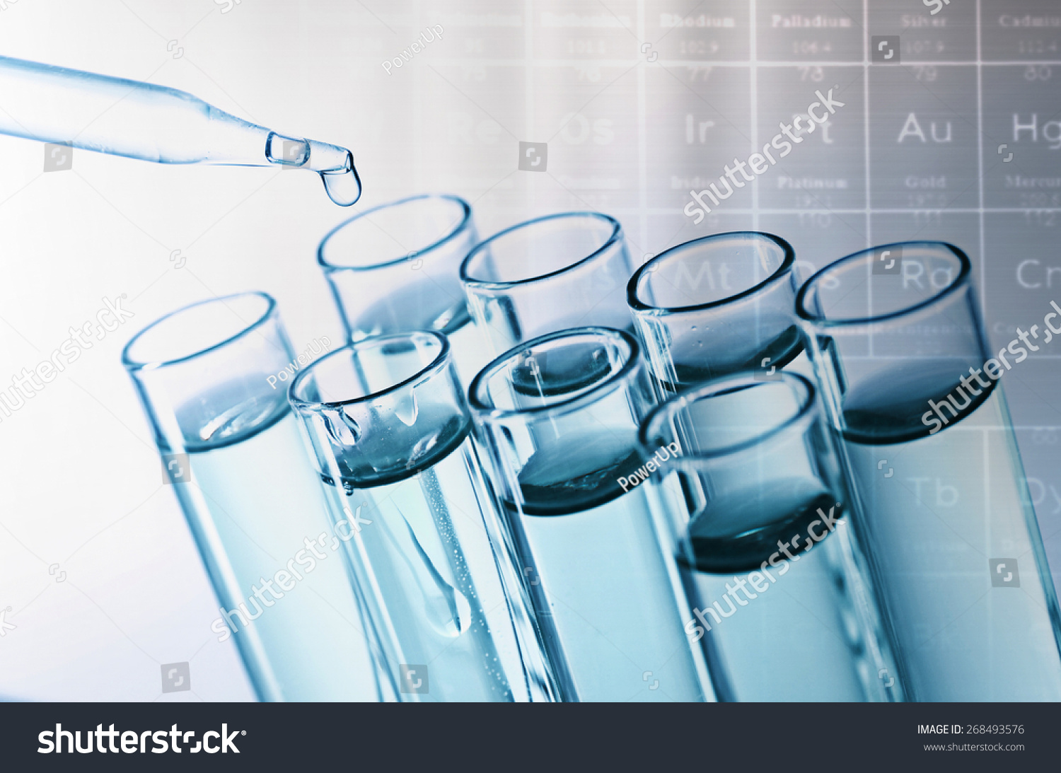 Science Laboratory Test Tubes On Periodic Stock Photo Edit Now