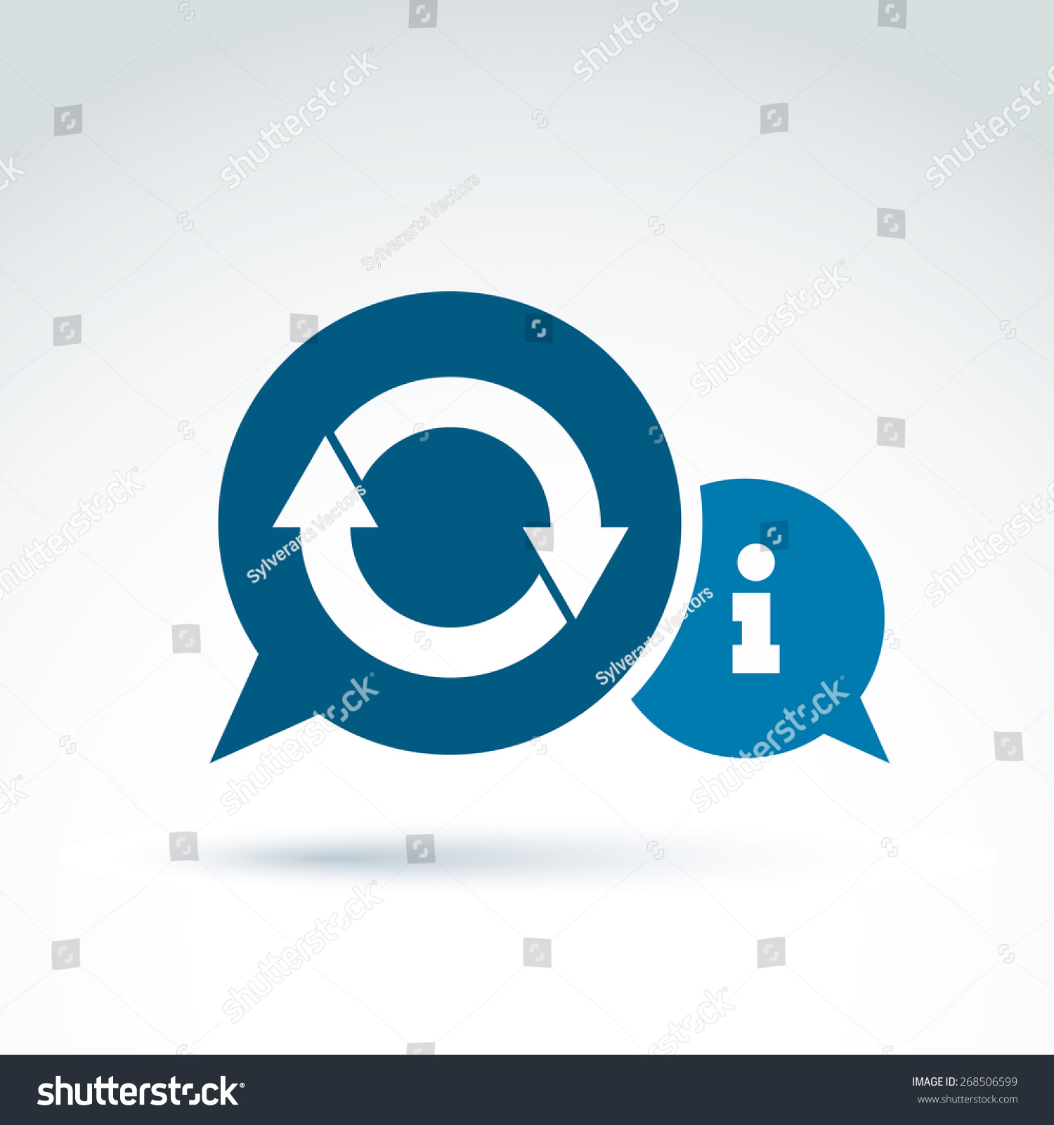 Information Exchange Theme Icon Collect Analyze Stock Vector