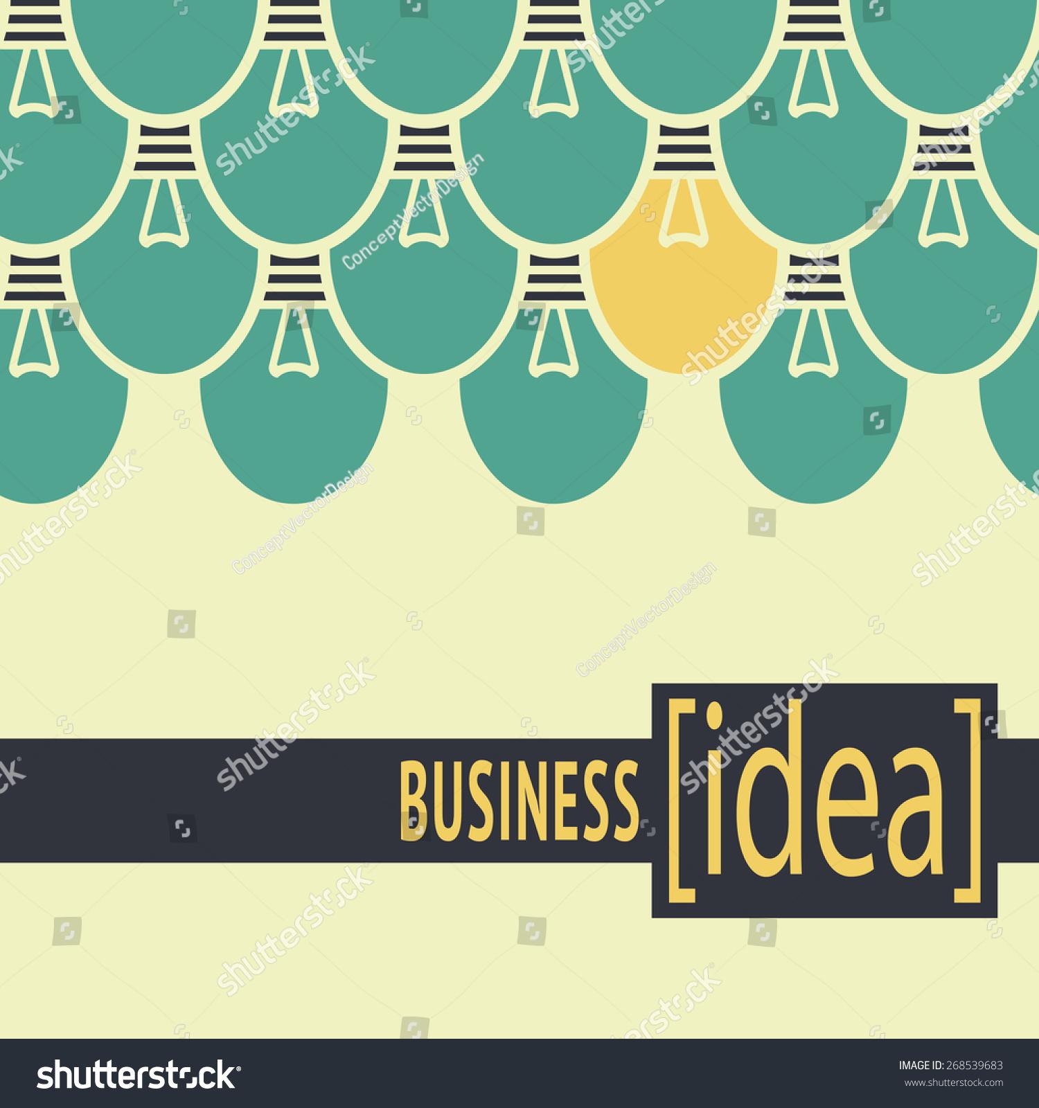 Light Process Company: Light Yellow Conceptual Illustration Business Idea Stock