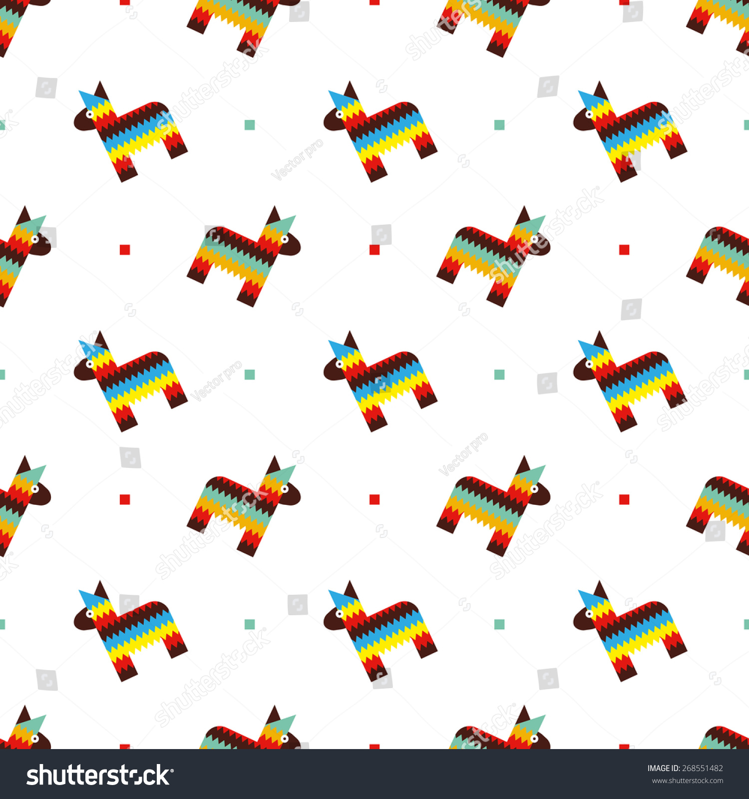 mexican horse pinata pattern stock vector 268551482 shutterstock