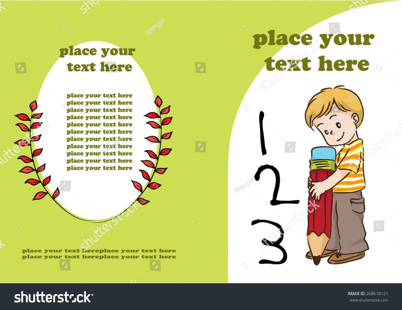 Book Cover Design Child : Kids book cover design stock vector shutterstock