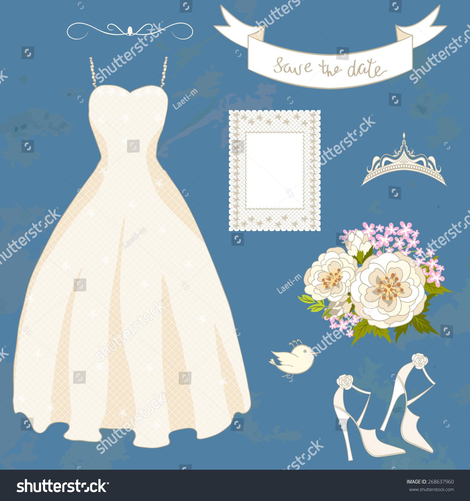 Wedding Set Accessories Bride Dress Shoes Stock Photo (Photo, Vector ...