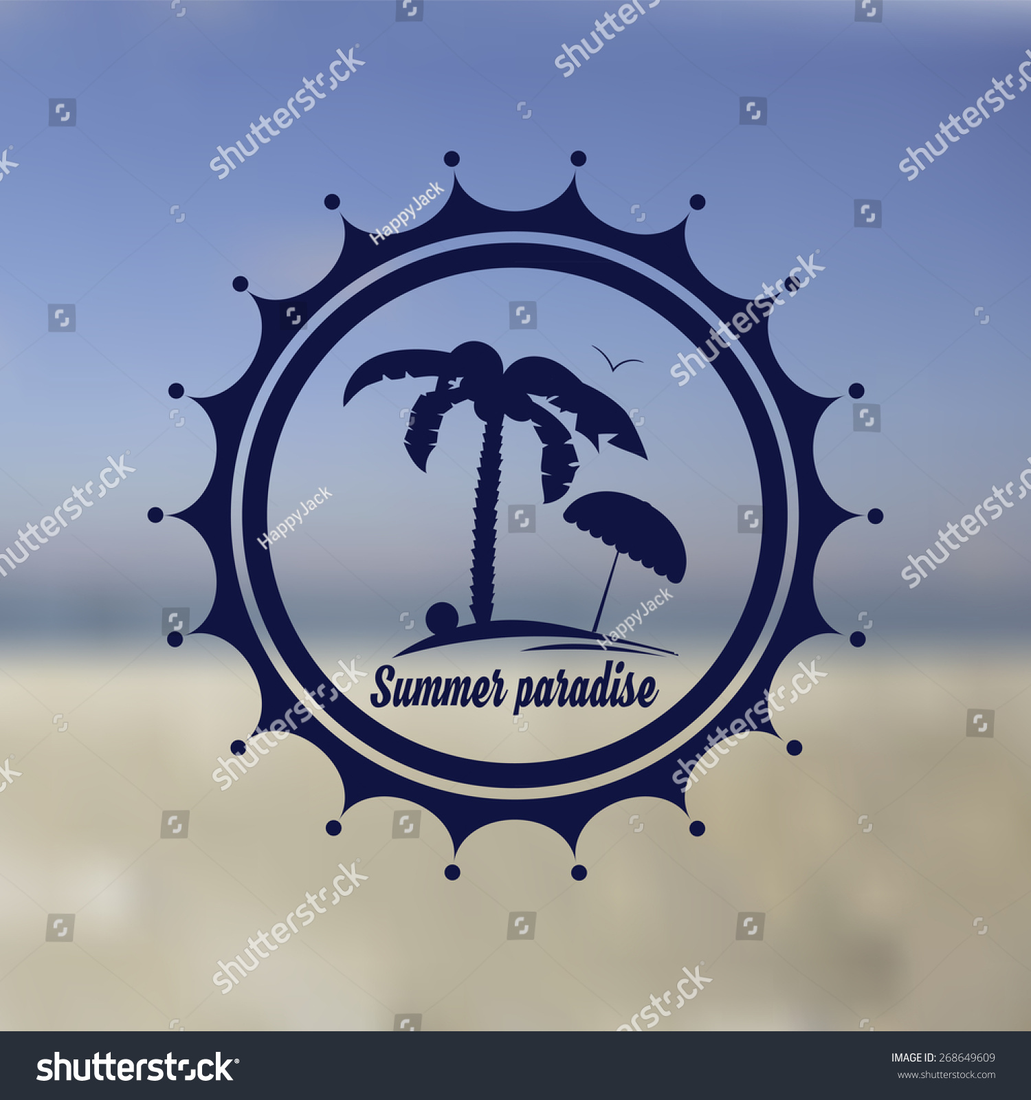 Logo Of Summer Beach Paradise Place For Rest Hotel Design