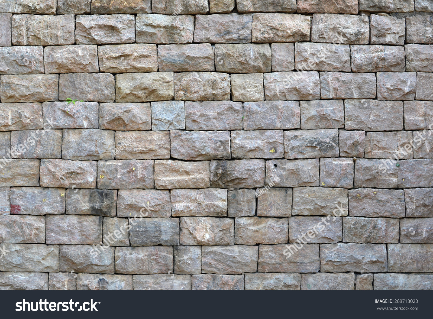 weathered exterior stone wall texture stock photo