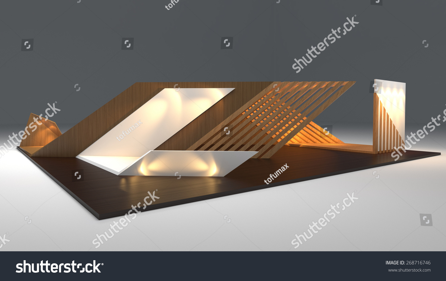 D Exhibition Design : Modern booth exhibition design d render stock illustration