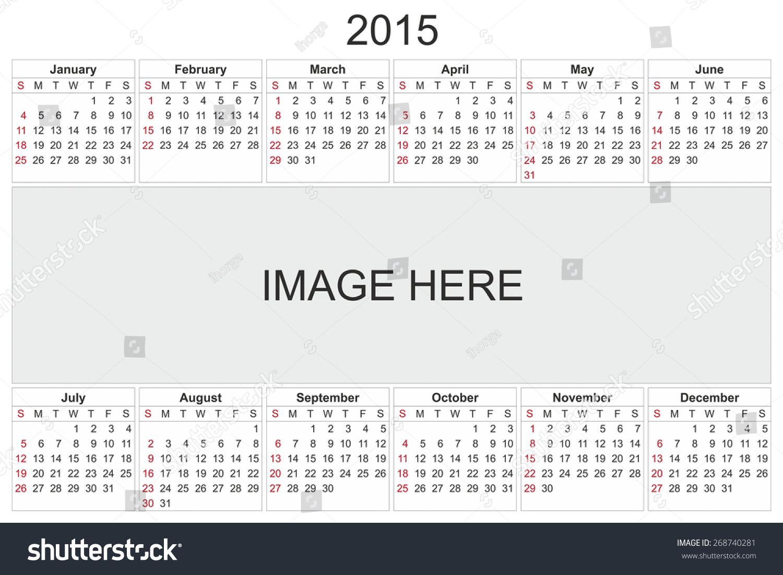 Calendar Design Using Photo : Calendar designed by computer using design software