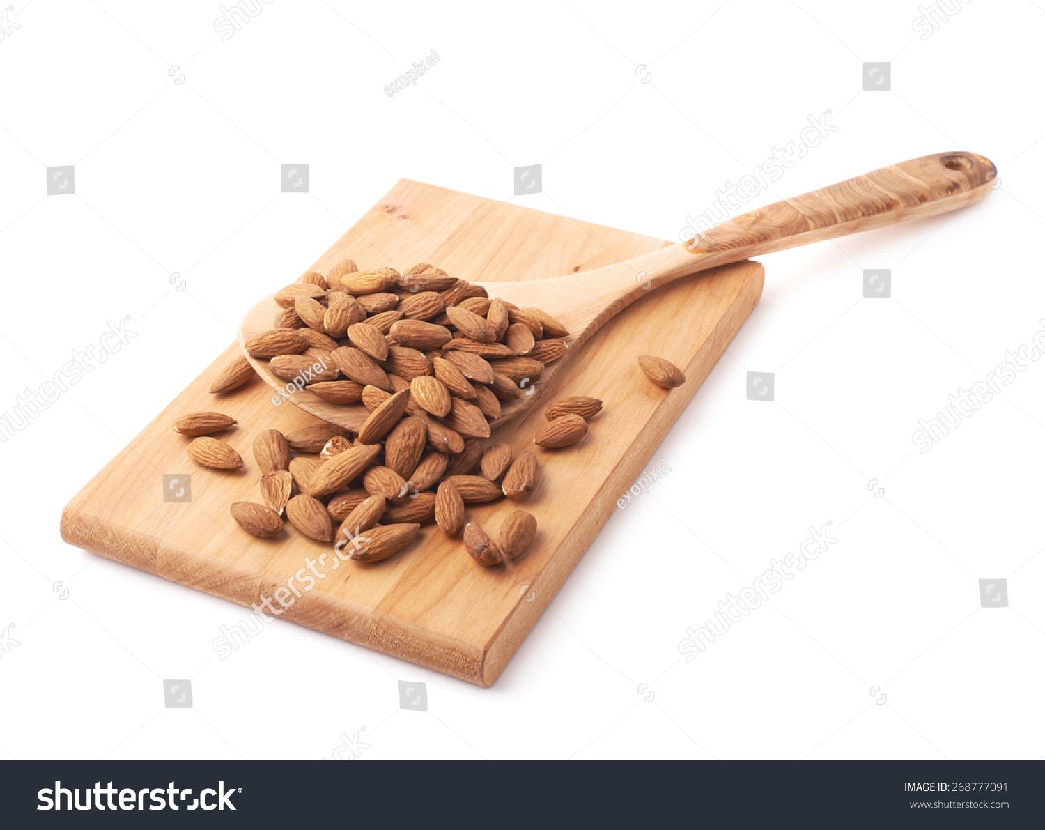 Big Wooden Spoon Ladle Covered Multiple Stock Photo ... Almond Board