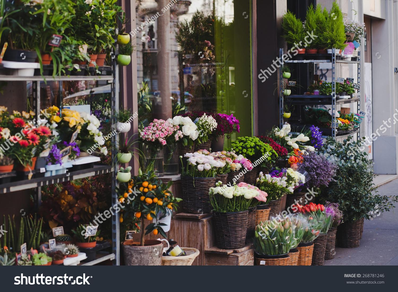 Beautiful flower shop paris france stock photo safe to use beautiful flower shop in paris france izmirmasajfo Gallery