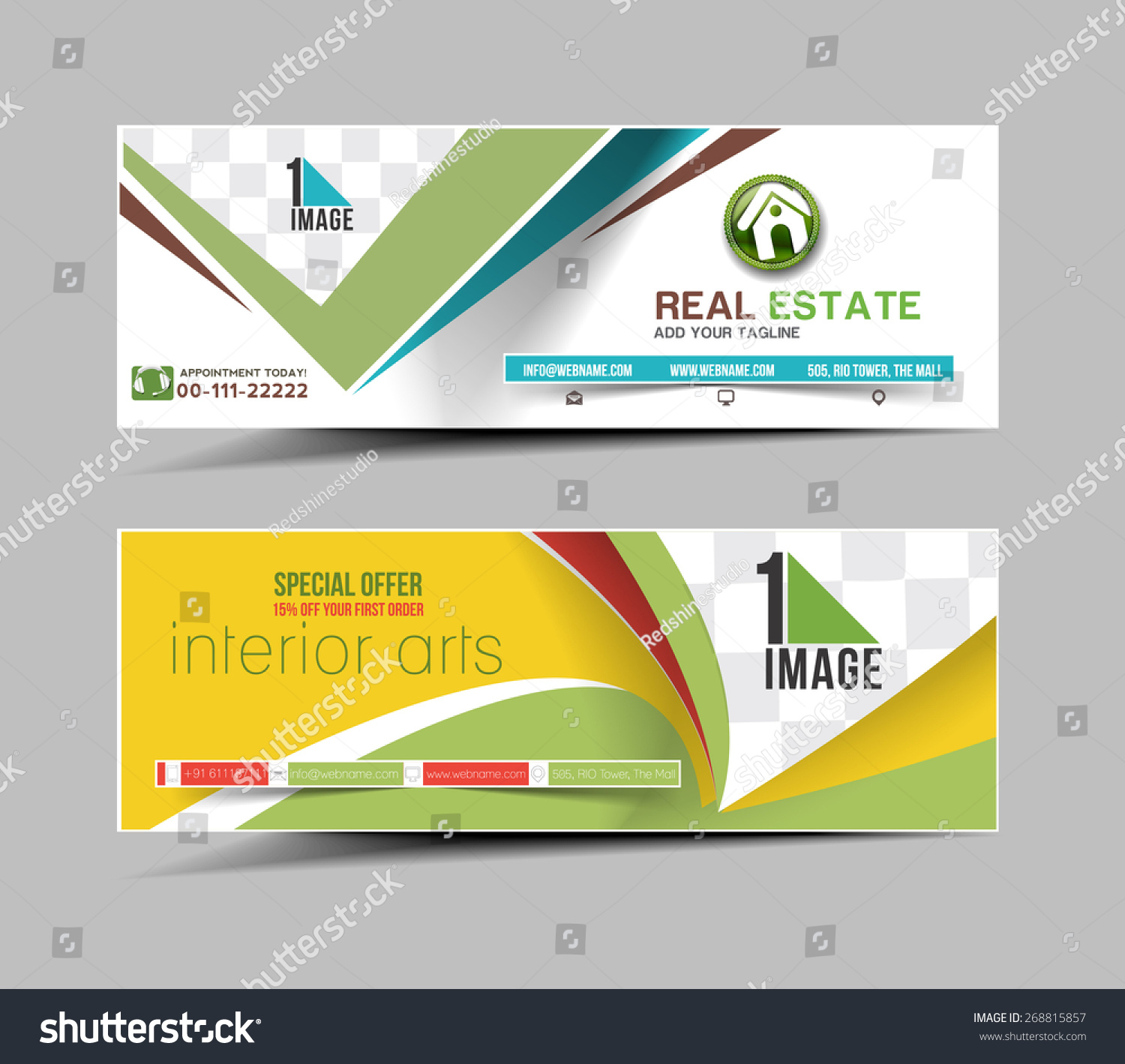 real estate business ad web banner stock vector  real estate business ad web banner header layout template