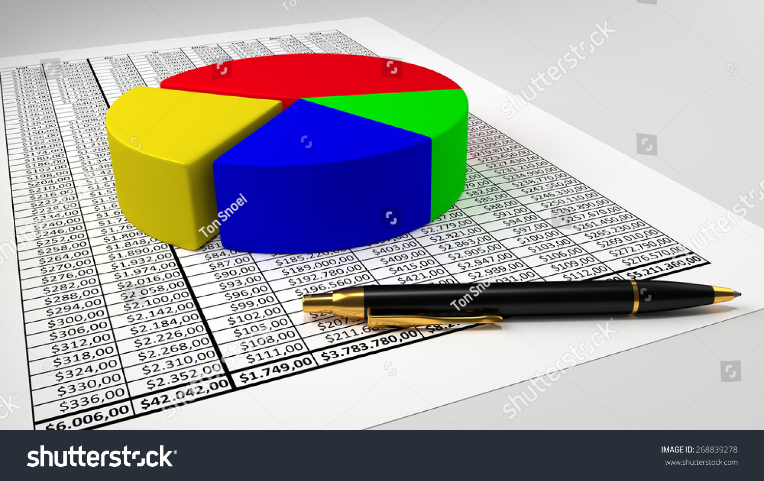 Spreadsheet pie chart pen stock illustration 268839278 shutterstock spreadsheet with pie chart and pen nvjuhfo Image collections