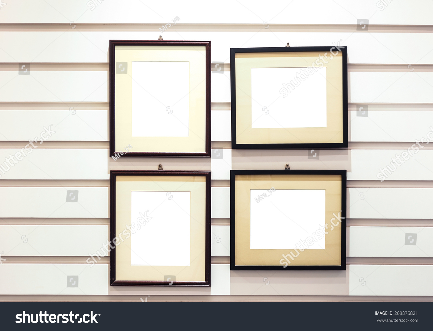 Big Size Vintage Photo Frame Installed Stock Photo (Edit Now ...