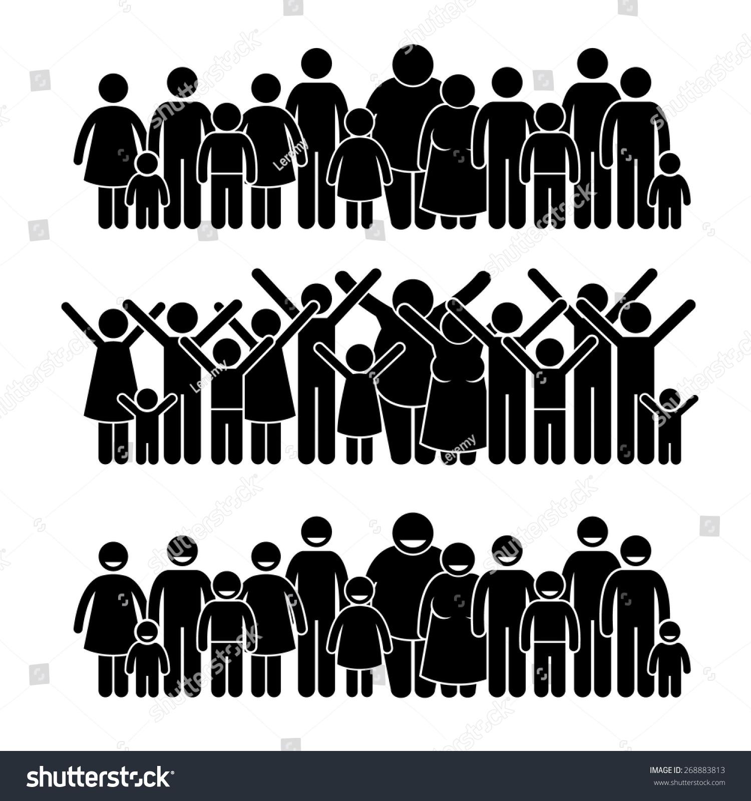 Group People Standing Community Stick Figure Stock Vector ... Raising Children