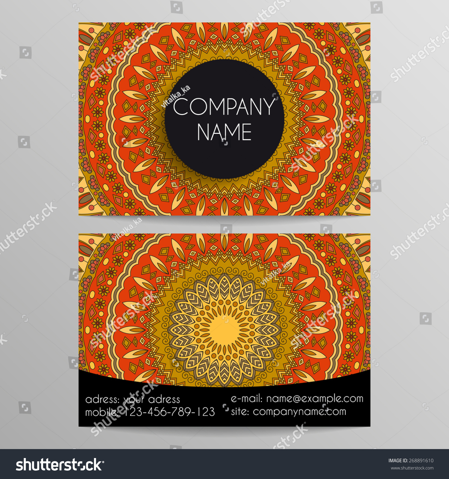 Business Card Patterns Stock Vector 268891610 - Shutterstock