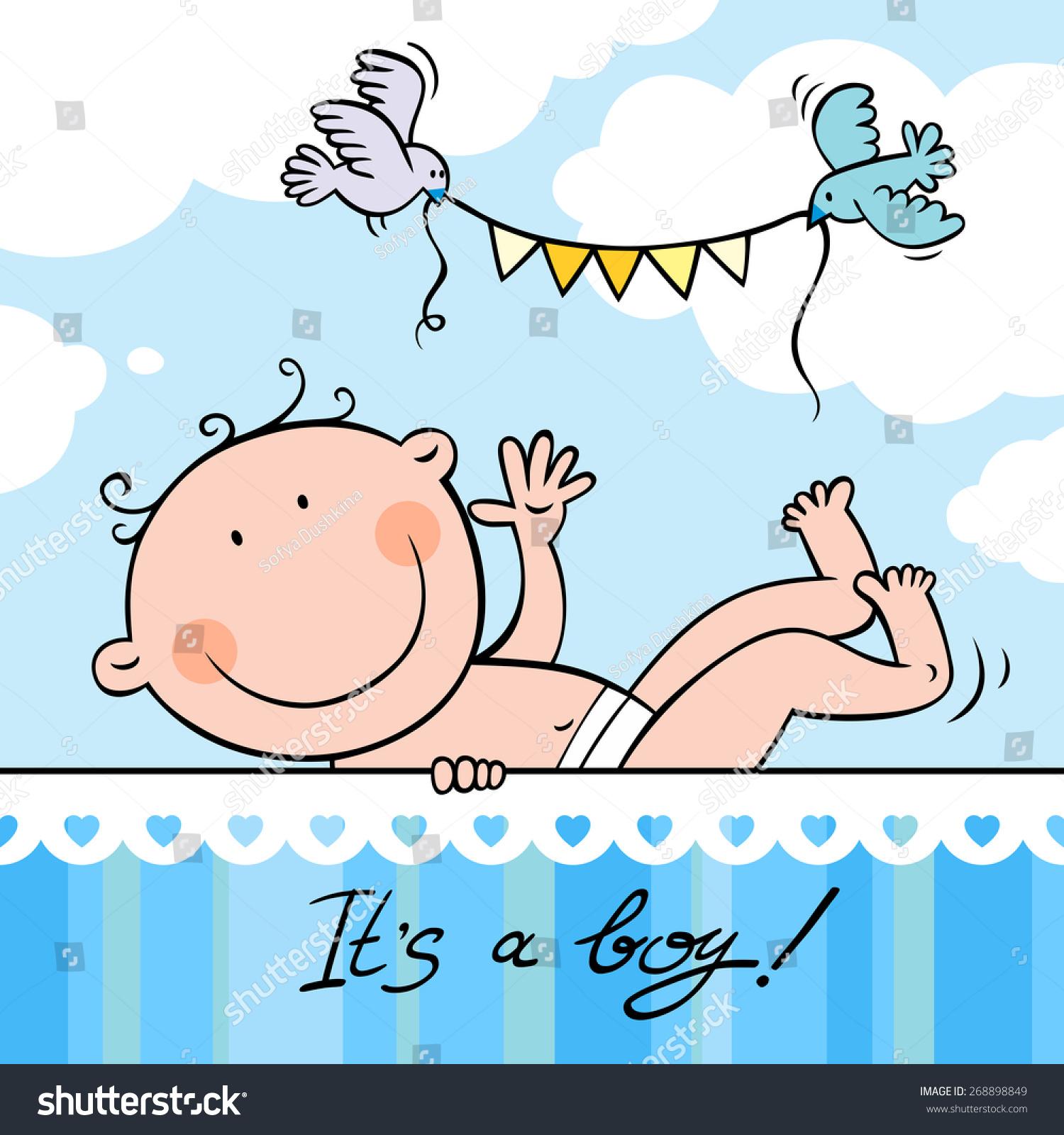 Baby boy greeting card stock vector royalty free 268898849 baby boy greeting card m4hsunfo