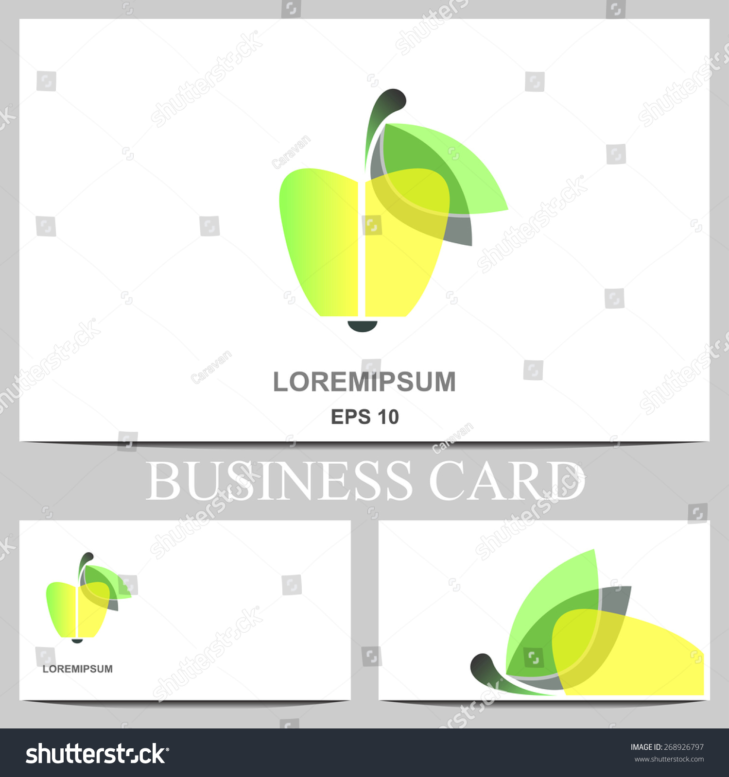 Business card apple stock vector 268926797 shutterstock colourmoves