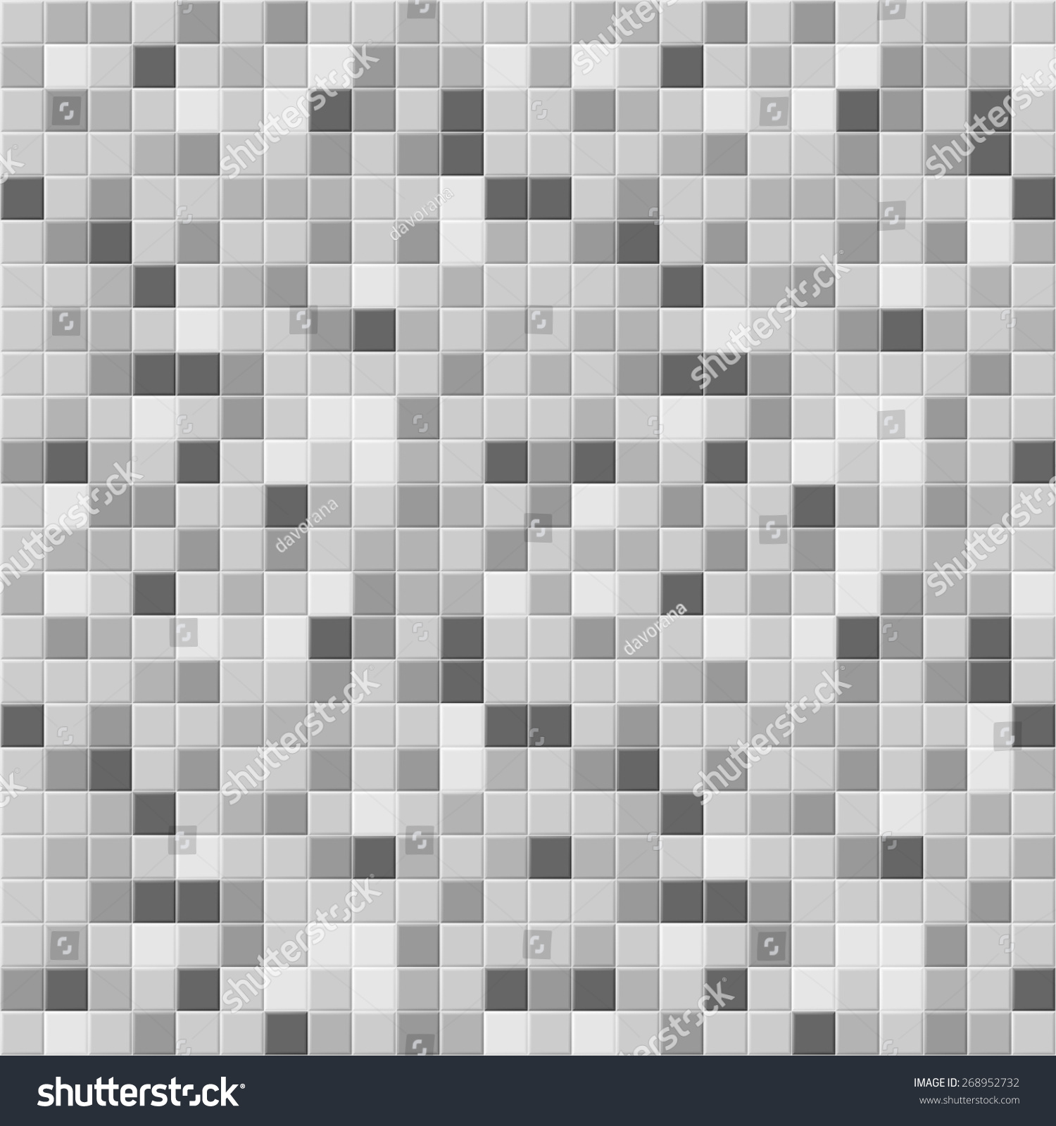 Grey Kitchen Tiles Texture: Many Gray Shades Abstract Tiling Geometric Texture. Black