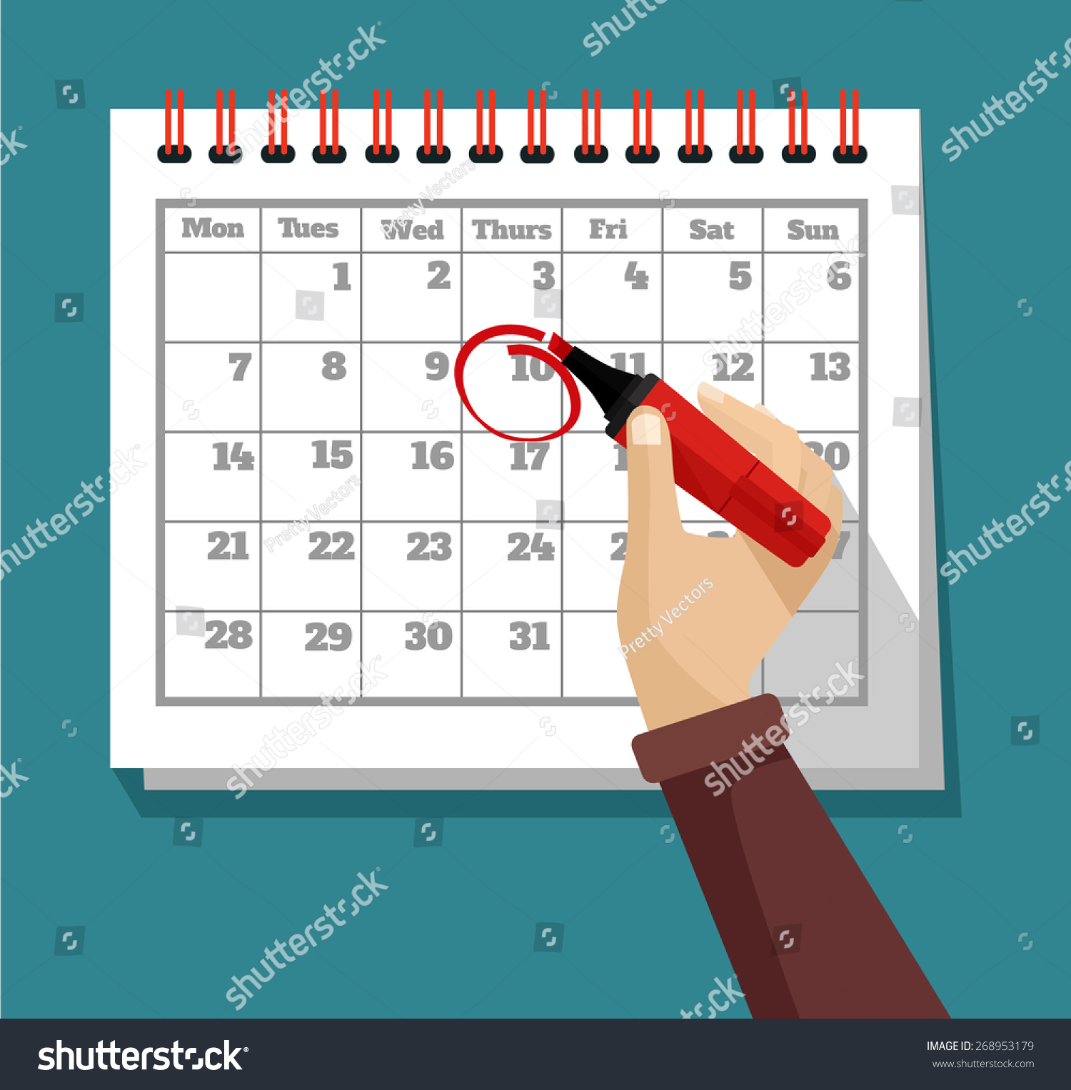 Calendar Illustration Vector : Vector flat calendar illustration shutterstock