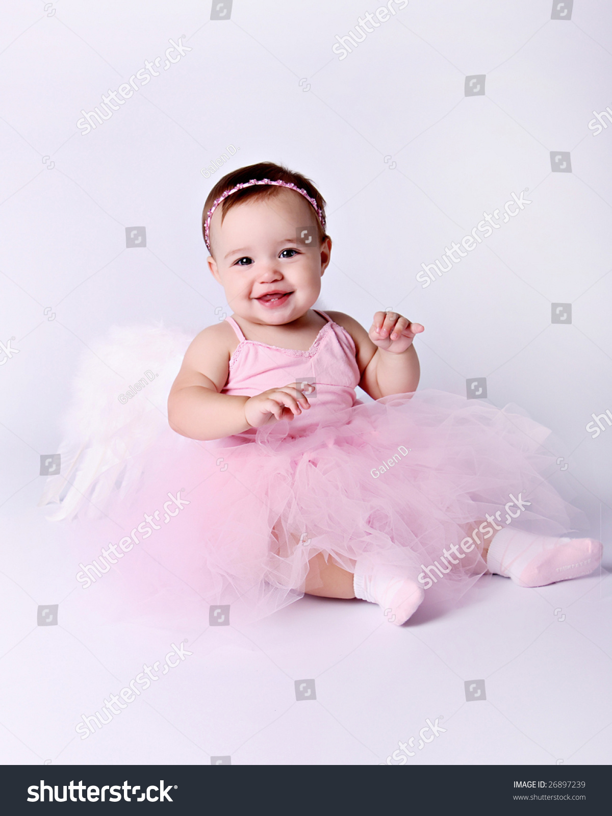 Baby Girl Angel Ballerina Stock Photo 26897239 - Shutterstock