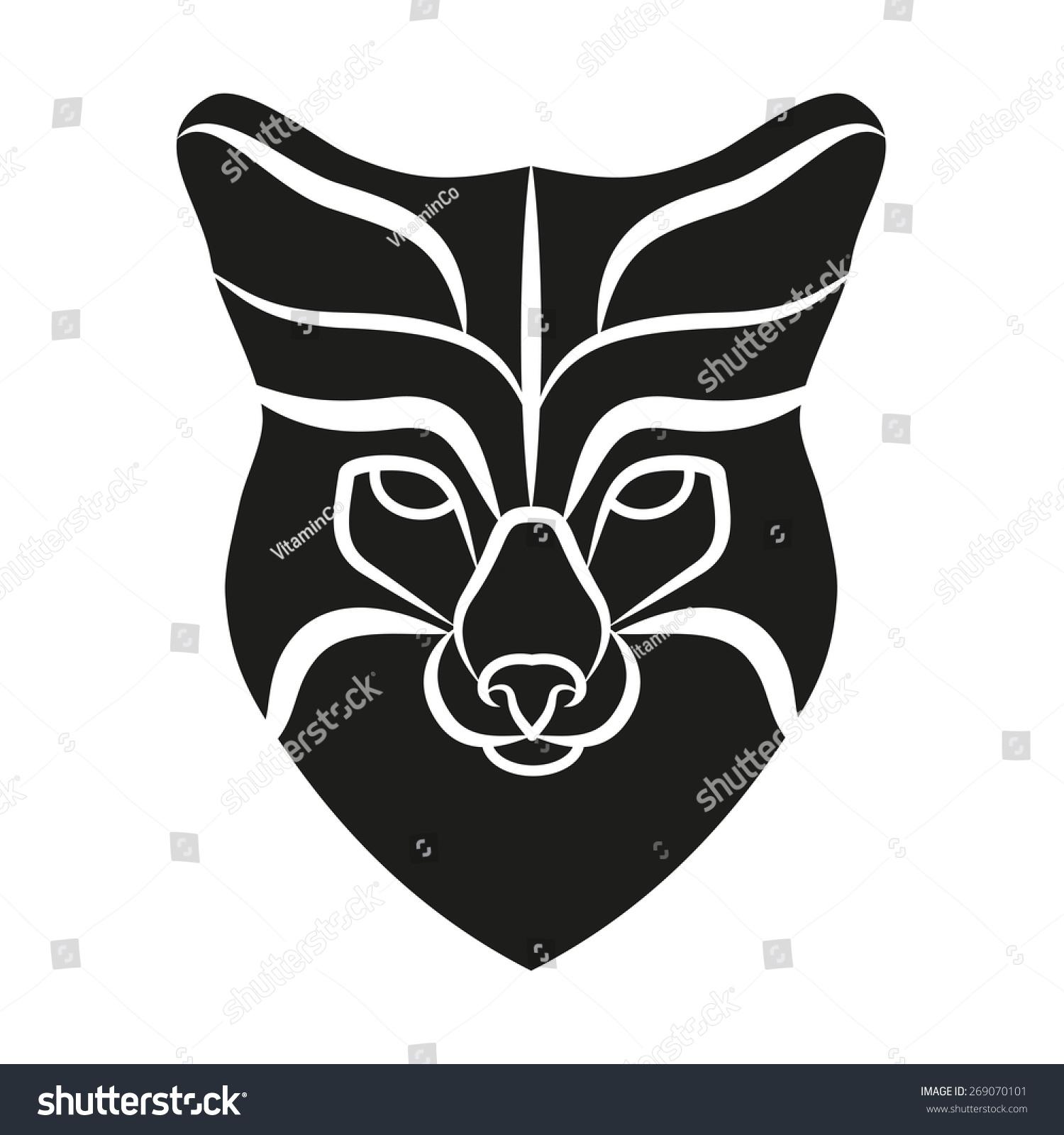 Symbol Head Old Fox Mascot Logo Stock Illustration 269070101