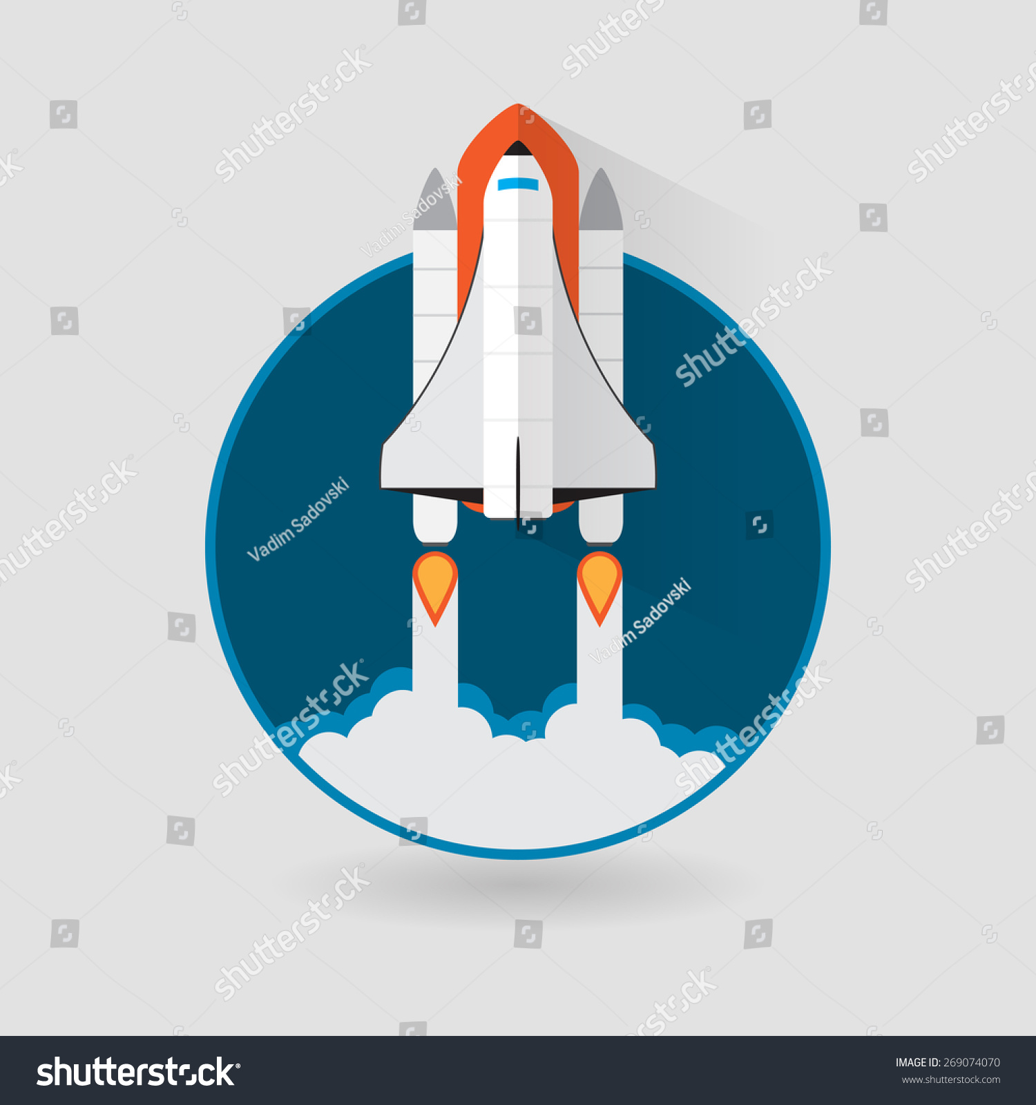Space Shuttle Launch. Spaceship And Space Background Stock ...