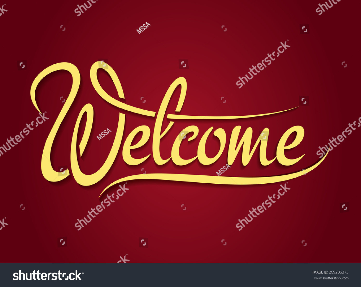 welcome hand lettering sign design text font type typography banner vector illustration