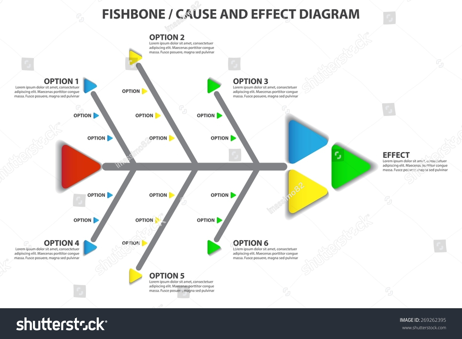 Cause effect fishbone diagram vector infographic stock vector cause and effect fishbone diagram vector infographic ccuart Gallery