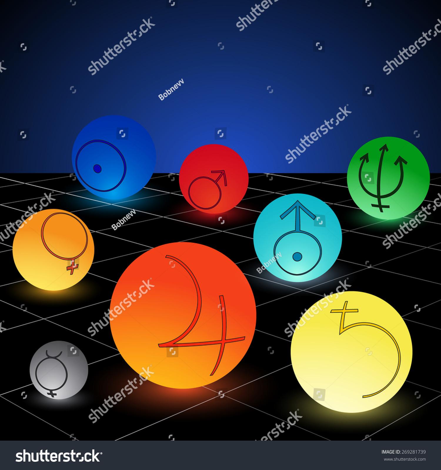 Planet solar system symbols colored vector stock vector 269281739 planet of solar system with symbols colored vector image buycottarizona