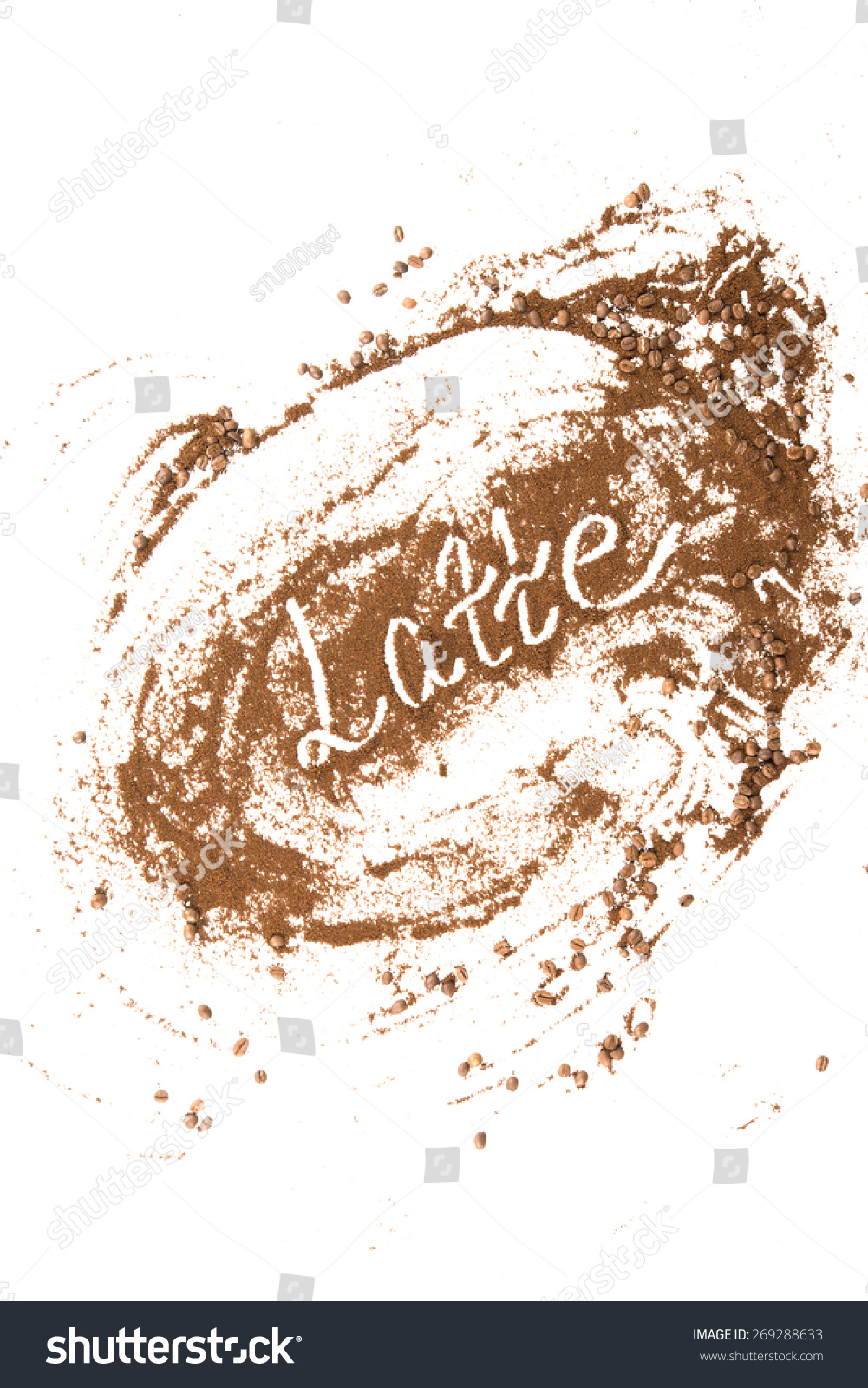 Online image photo editor shutterstock editor for Painting with coffee grounds