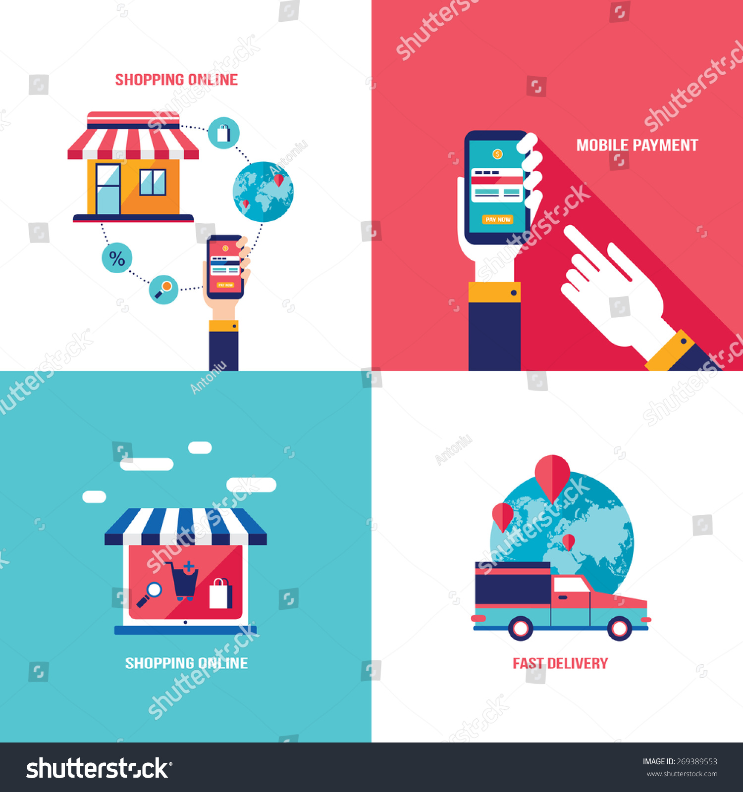 Online shopping e commerce mobile payment and successful for E commerce mobili