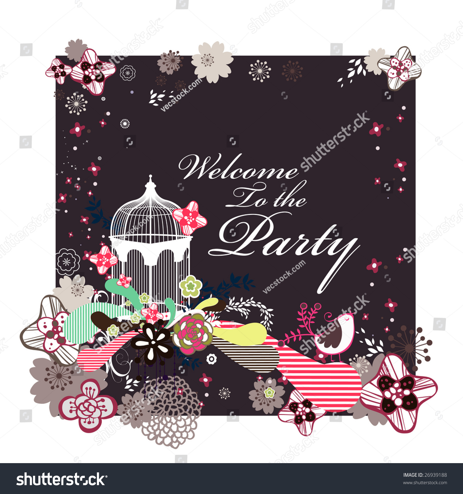 welcome party invitation card stock vector shutterstock welcome party invitation card