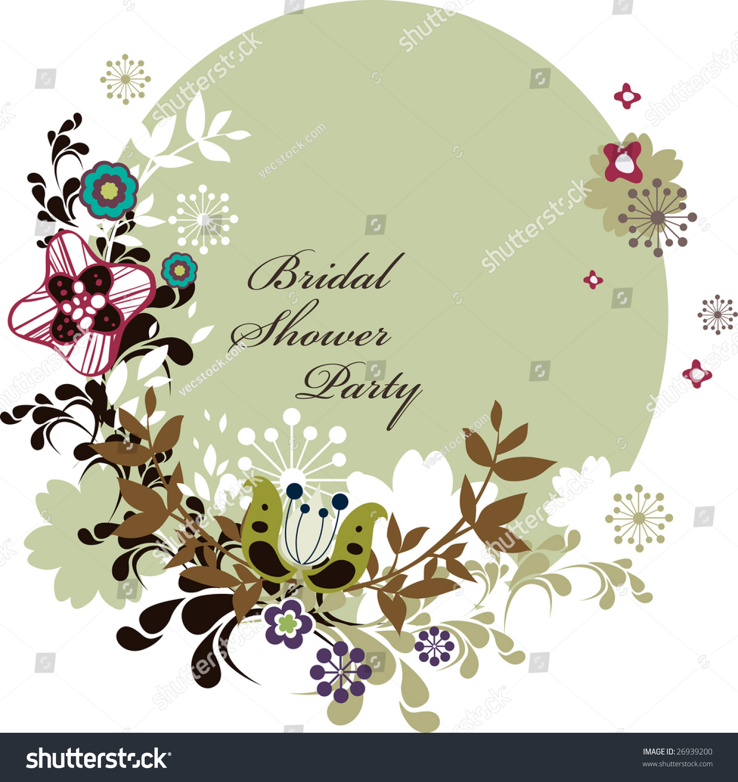 Invitation Party Wedding Free Vector Graphic On Pixabay: Bridal Shower Party Invitation Card Stock Vector