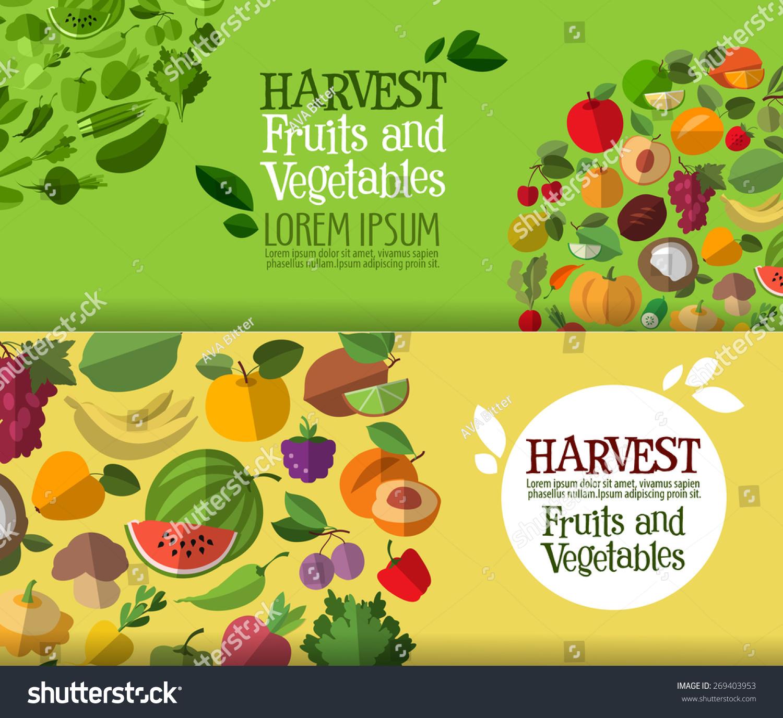 Fruits vegetables vector logo design template stock vector for Vegetable design