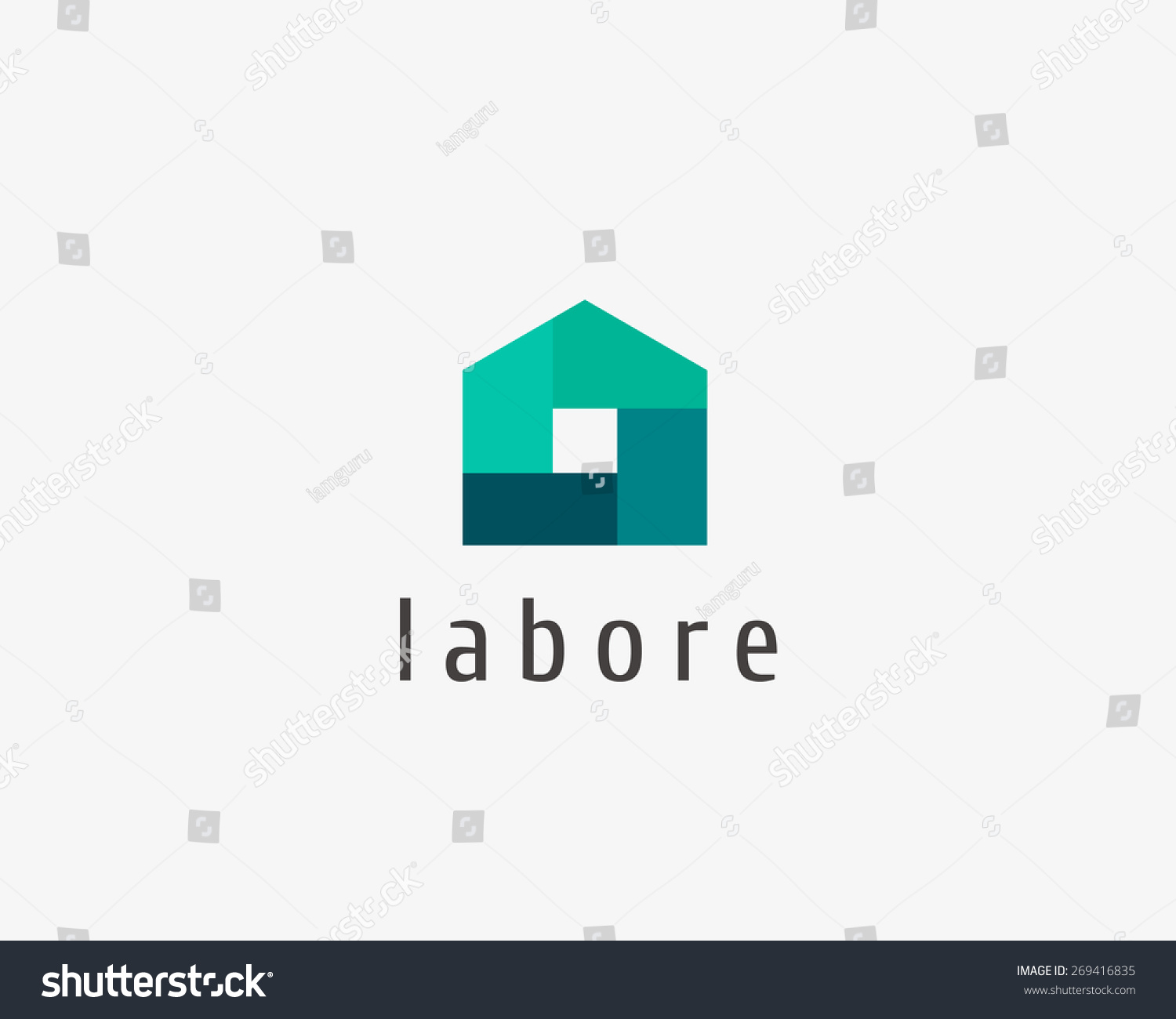 Abstract house logo design template colorful sign House design templates