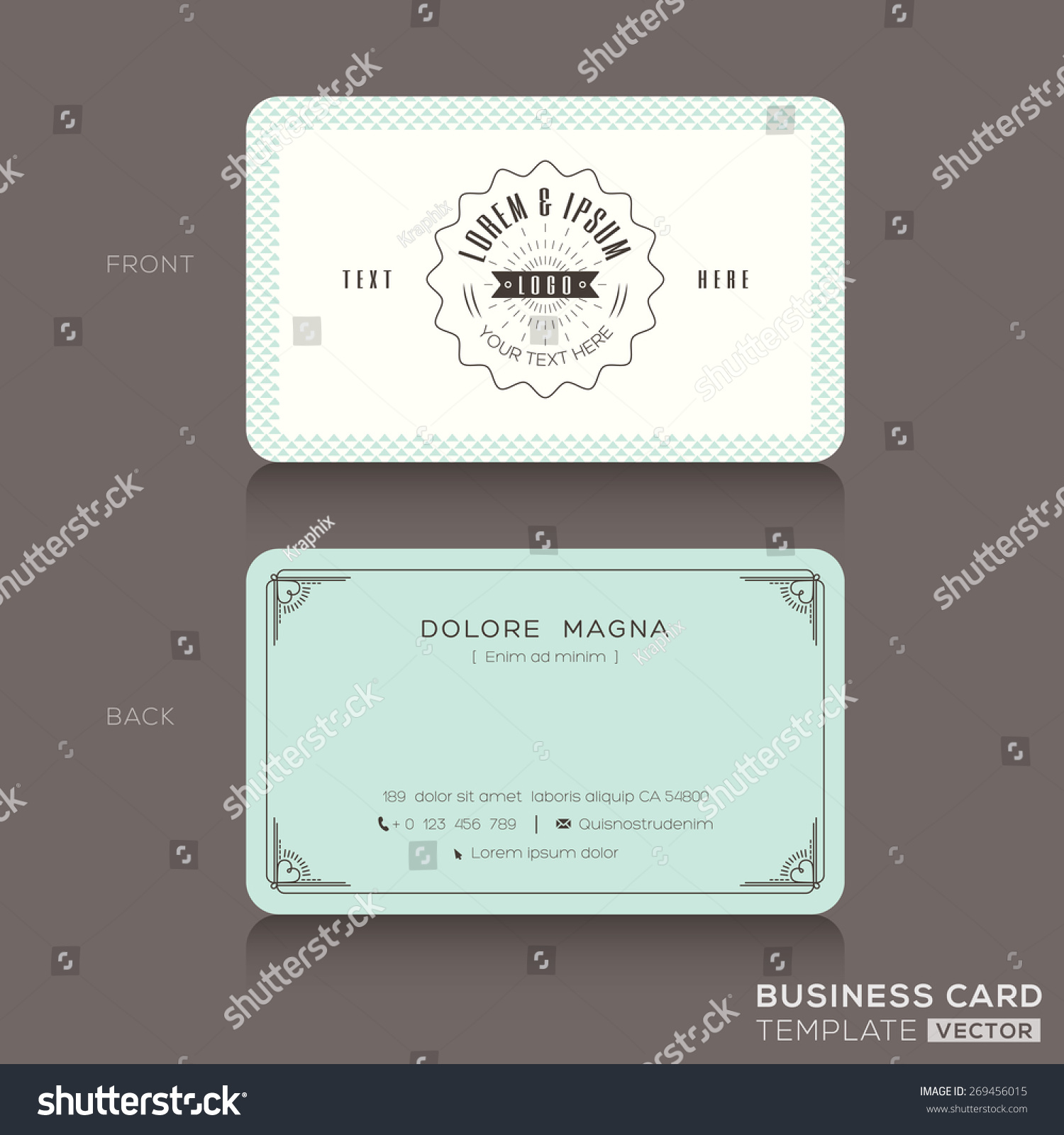 Retro hipster business card design template stock vector for Hipster business card