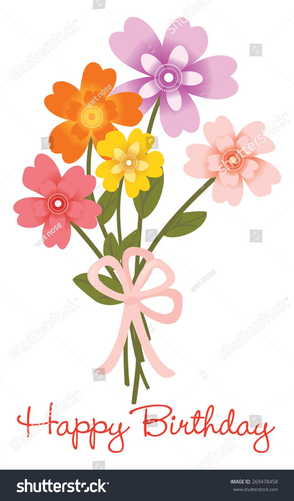 Happy birthday flower bouquet jpeg stock illustration 269478458 happy birthday flower bouquet jpeg izmirmasajfo