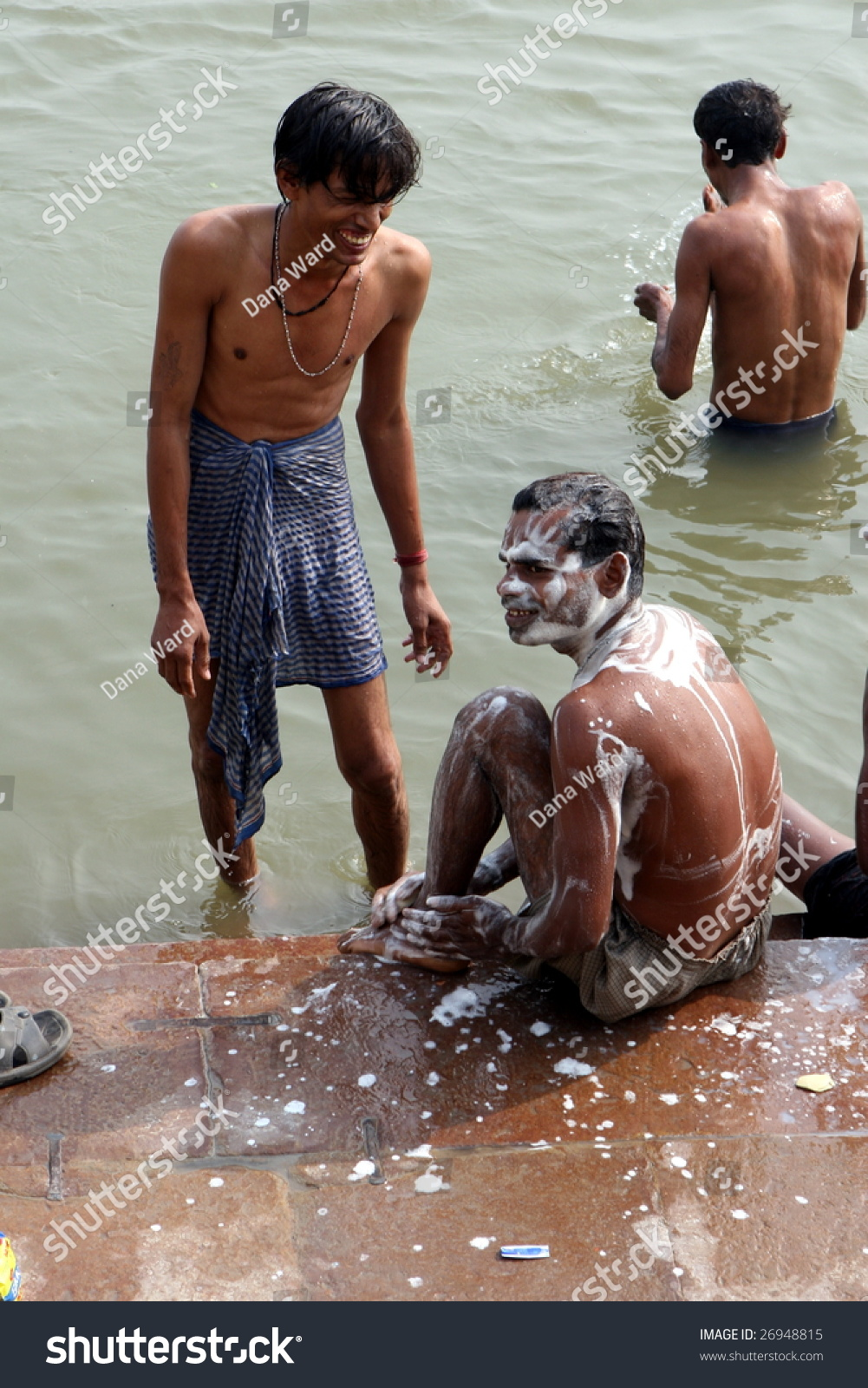 """ganges guys Should men be treated worse than animals  these men also believe dunking themselves in the highly polluted ganges river will help them get rid of """"toxic."""