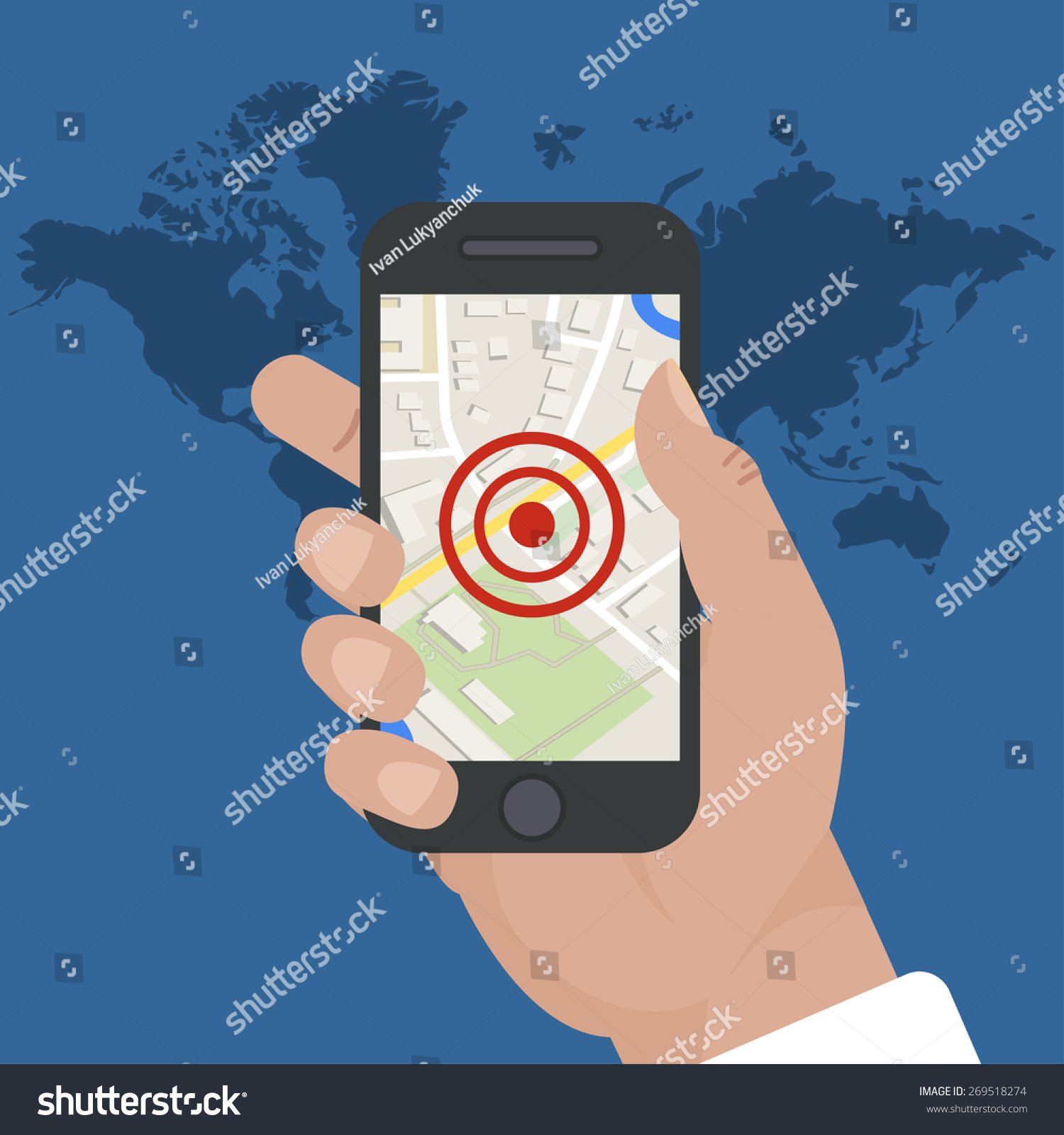 smart phone navigation mobile gps and tracking concept location track app on touchscreen. Black Bedroom Furniture Sets. Home Design Ideas