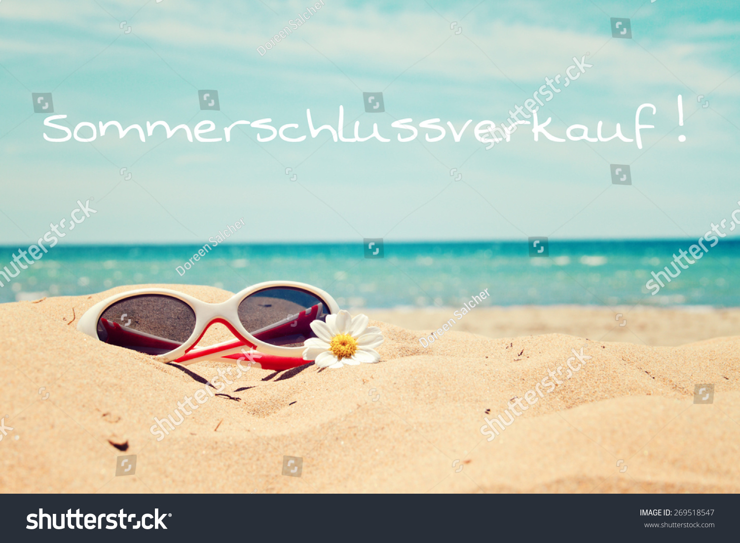 Greeting Card Background Beach Holidays German Stock Photo Edit Now