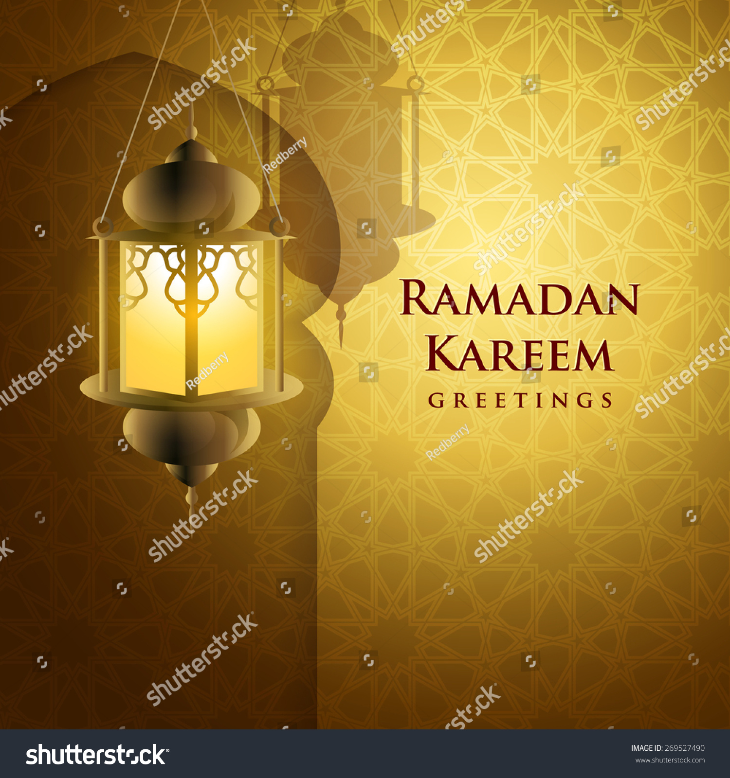 Ramadan Greetings Background Ramadan Kareem Means Stock Vector