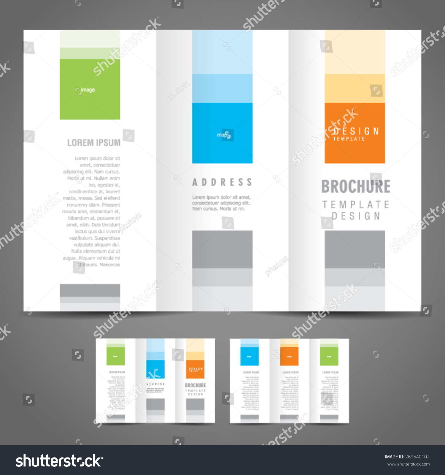 Simple brochure design template trifold stock vector for Simple tri fold brochure template