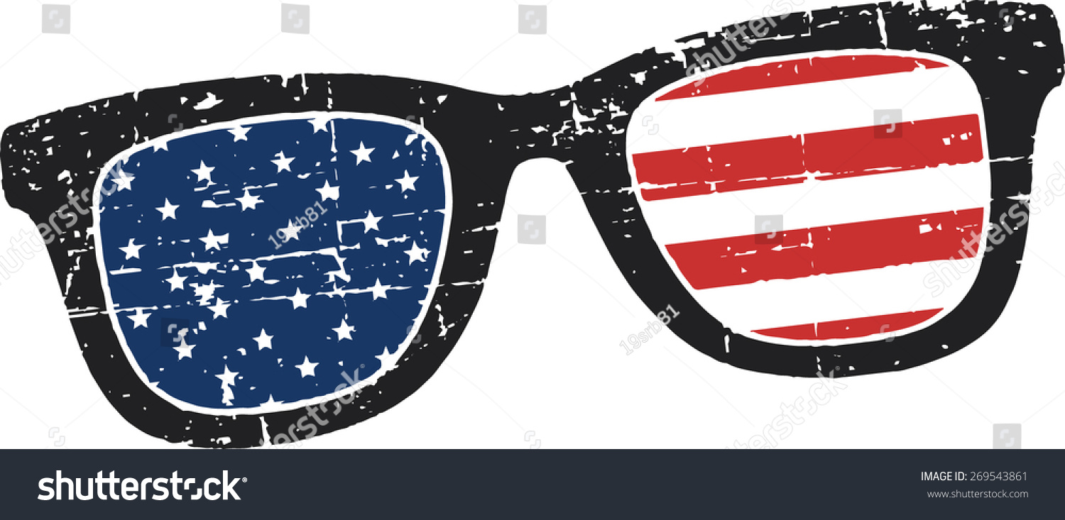 d3567b138ca Scratched retro glasses american flag stock vector royalty free jpg  1500x733 American flag glasses