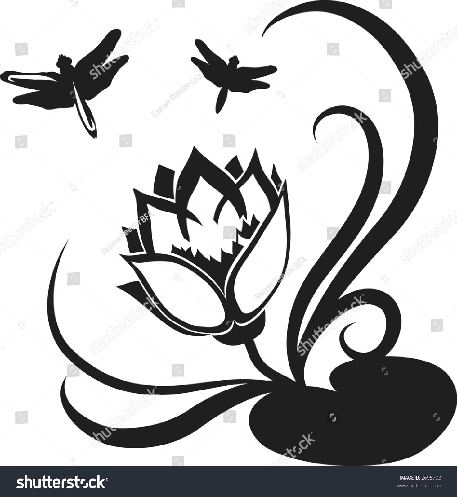 Stylized illustration lotus flower design element stock vector stylized illustration of a lotus flower design element izmirmasajfo
