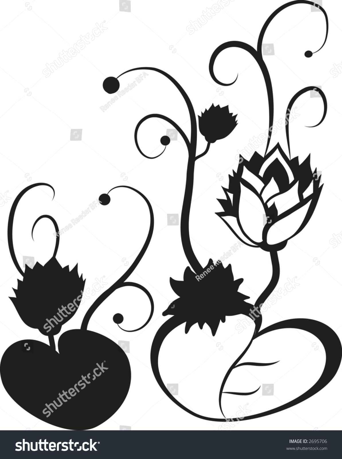 Stylized illustration lotus flower design element stock vector hd stylized illustration of a lotus flower design element izmirmasajfo