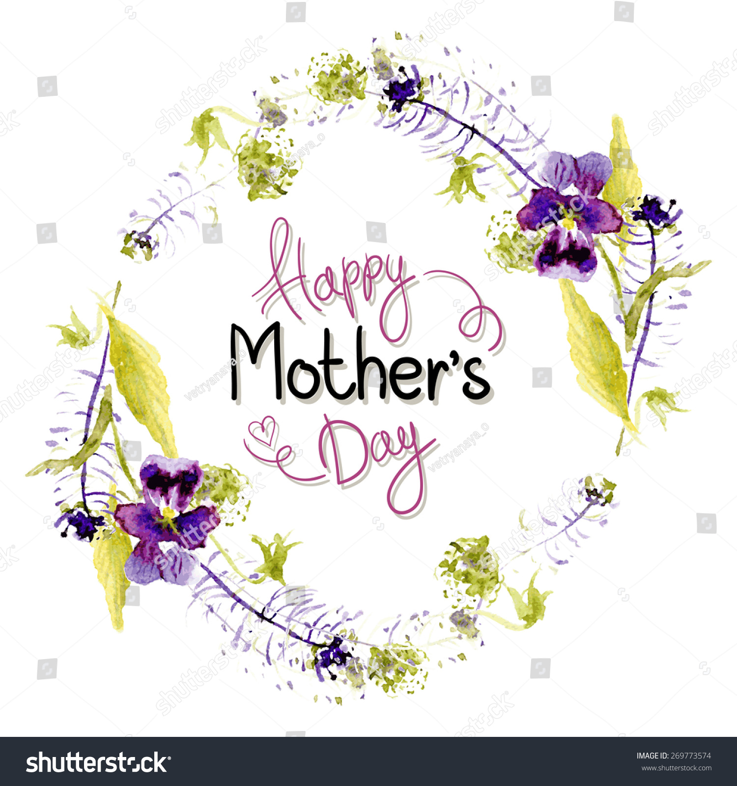 Royalty Free Greetings Mothers Day Vector 269773574 Stock Photo