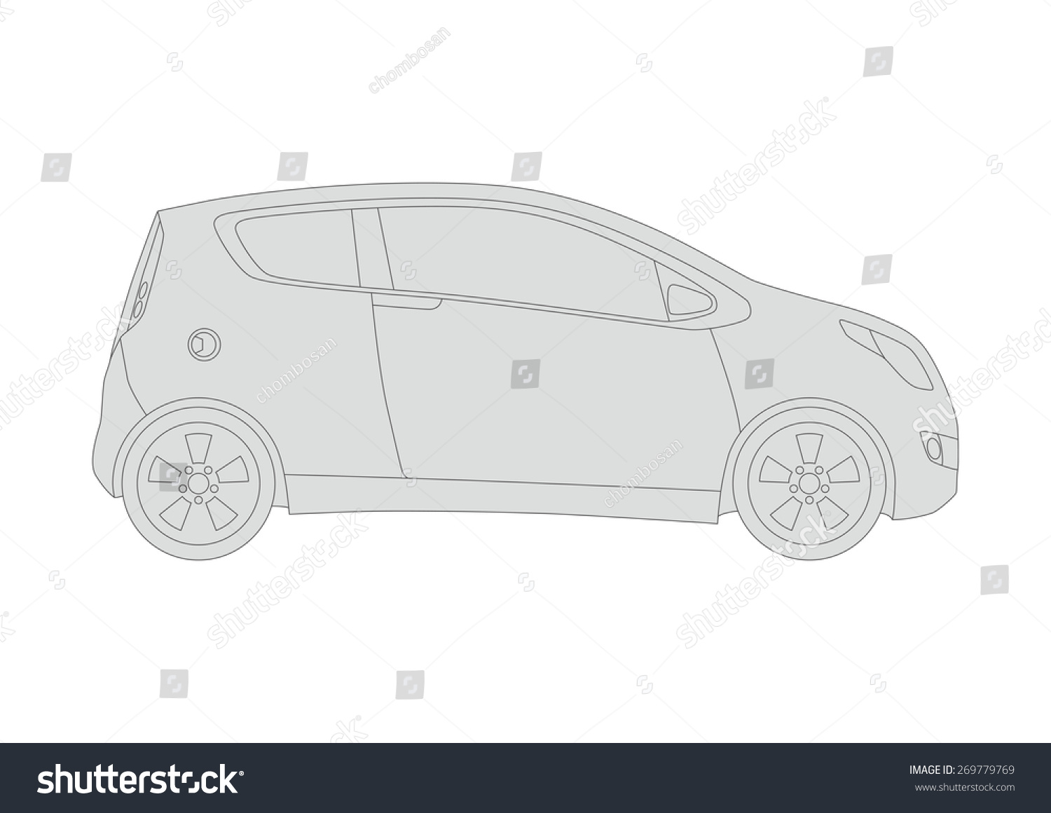 Line Drawing Of Car : Generic vehicle line drawing illustration stock vector