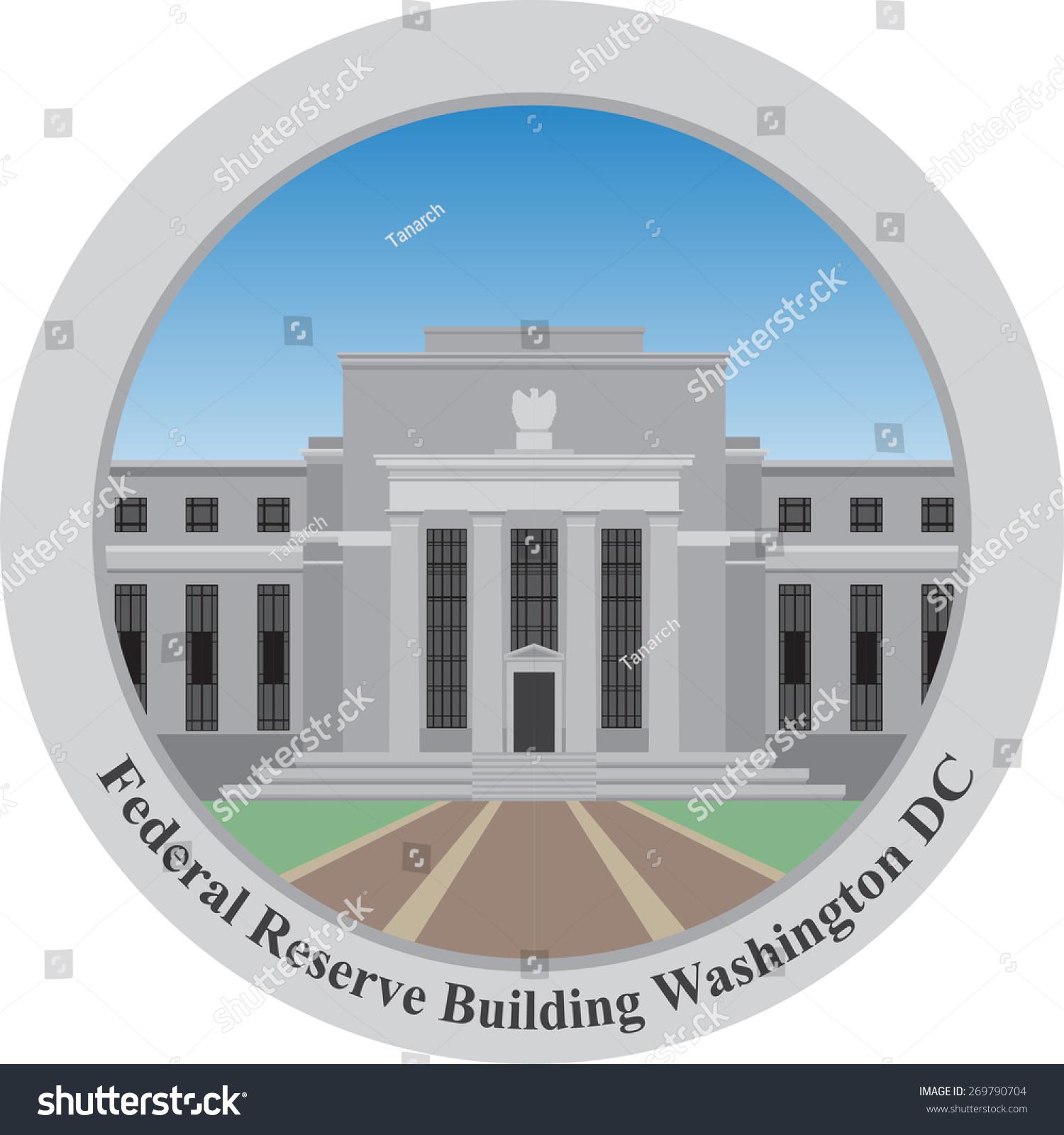 Federal Reserve Building Washington Dc Usavector Stock Vector